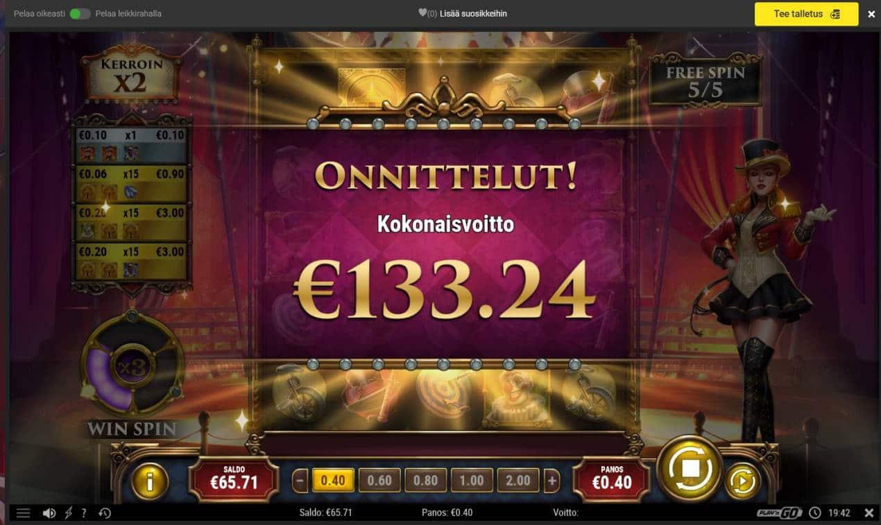 Golden Ticket 2 Casino win picture by MrMork666 16.11.2020 133.24e 333X