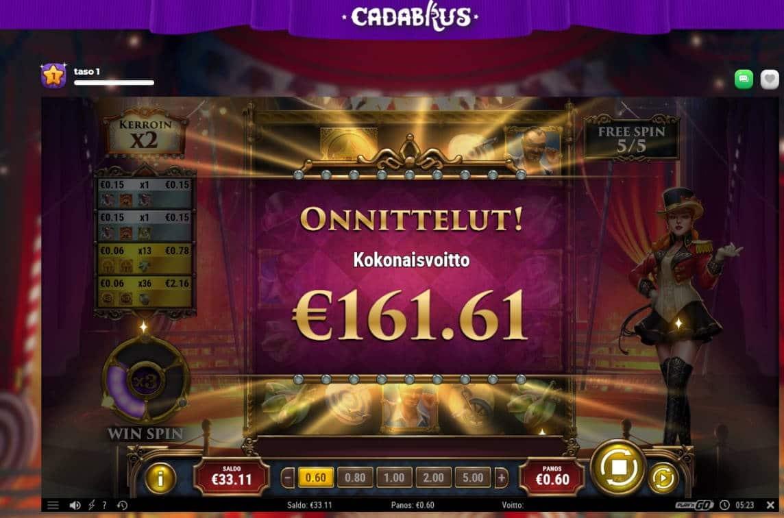 Golden Ticket 2 Casino win picture by MrMork666 28.10.2020 161.61e 269X Cadabrus