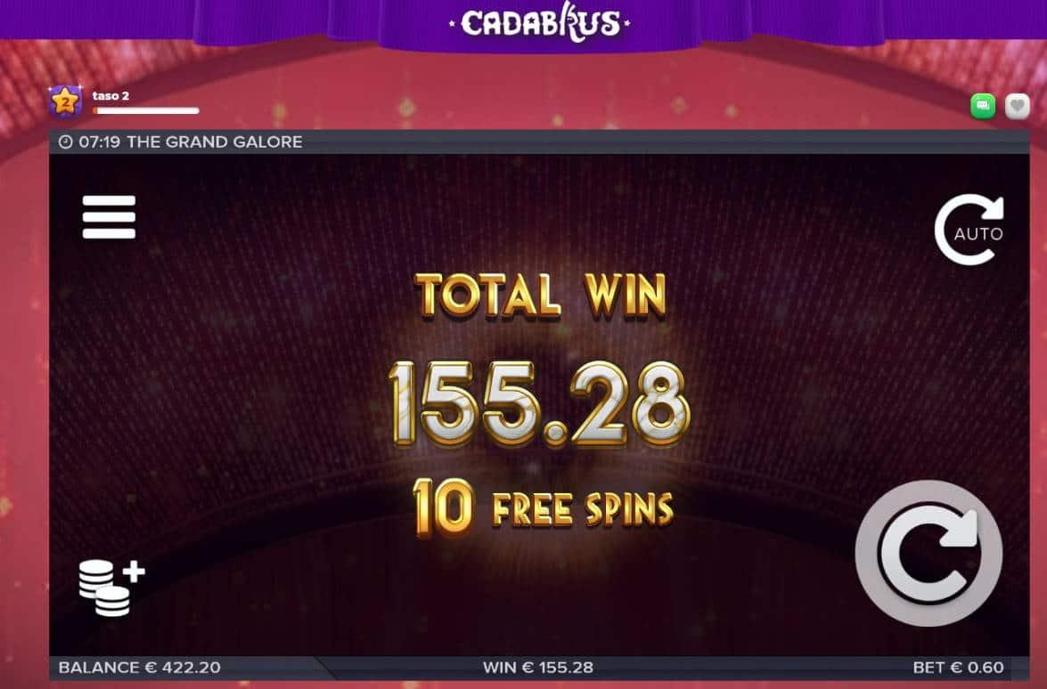 Grand Galore Casino win picture by Mrmork666 155.28e 259x Cadabrus