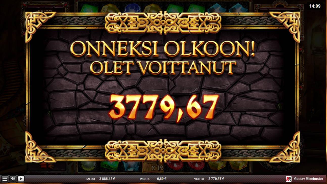 Gustav Minebuster Casino win picture by Kari Grandi 2.11.2020 3779.67e 6299X