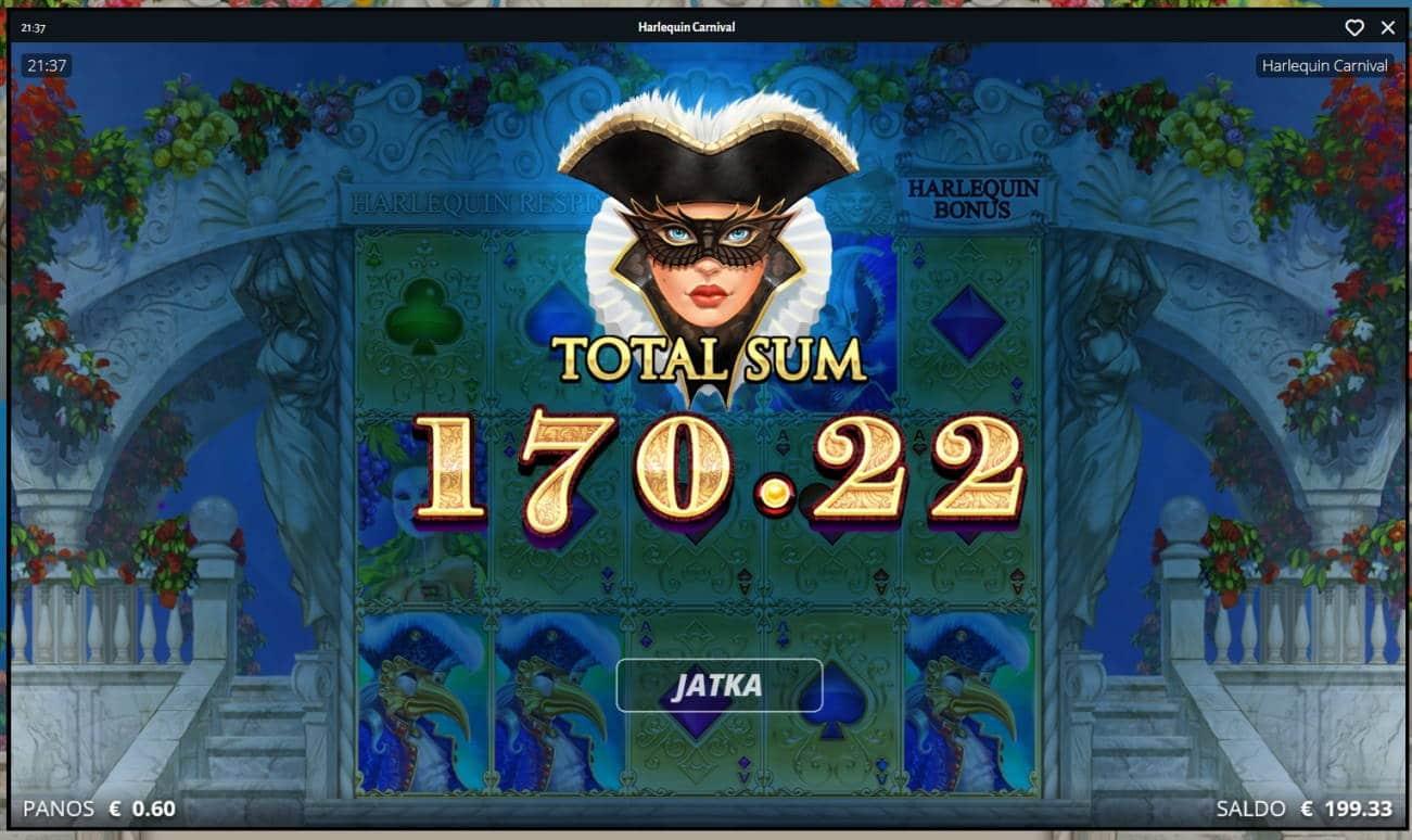 Harlequin Carnival Casino win picture by MrMork666 16.11.2020 170.22e 284X