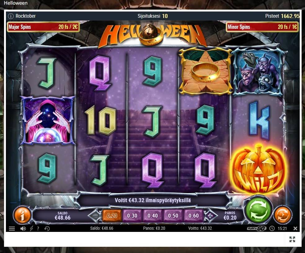 Helloween Casino win picture by MrMork666 28.10.2020 43.32e 216X