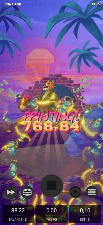 Iron Bank Casino win picture by Jubeew 11.11.2020 768.84e 7688X