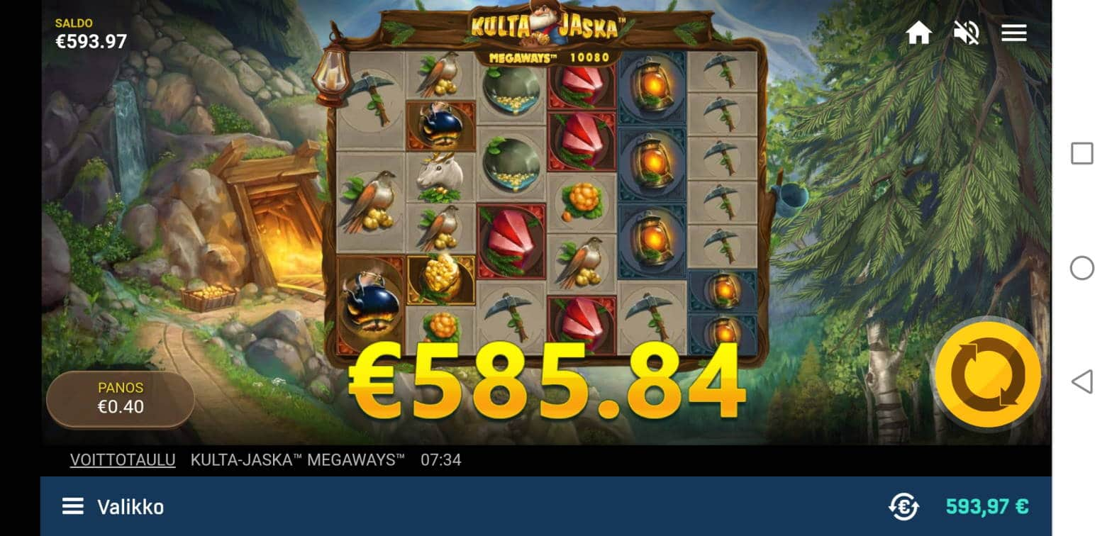 Kulta Jaska Megaways Casino win picture by Jarsse822 11.11.2020 585.84e 1465X Veikkaus