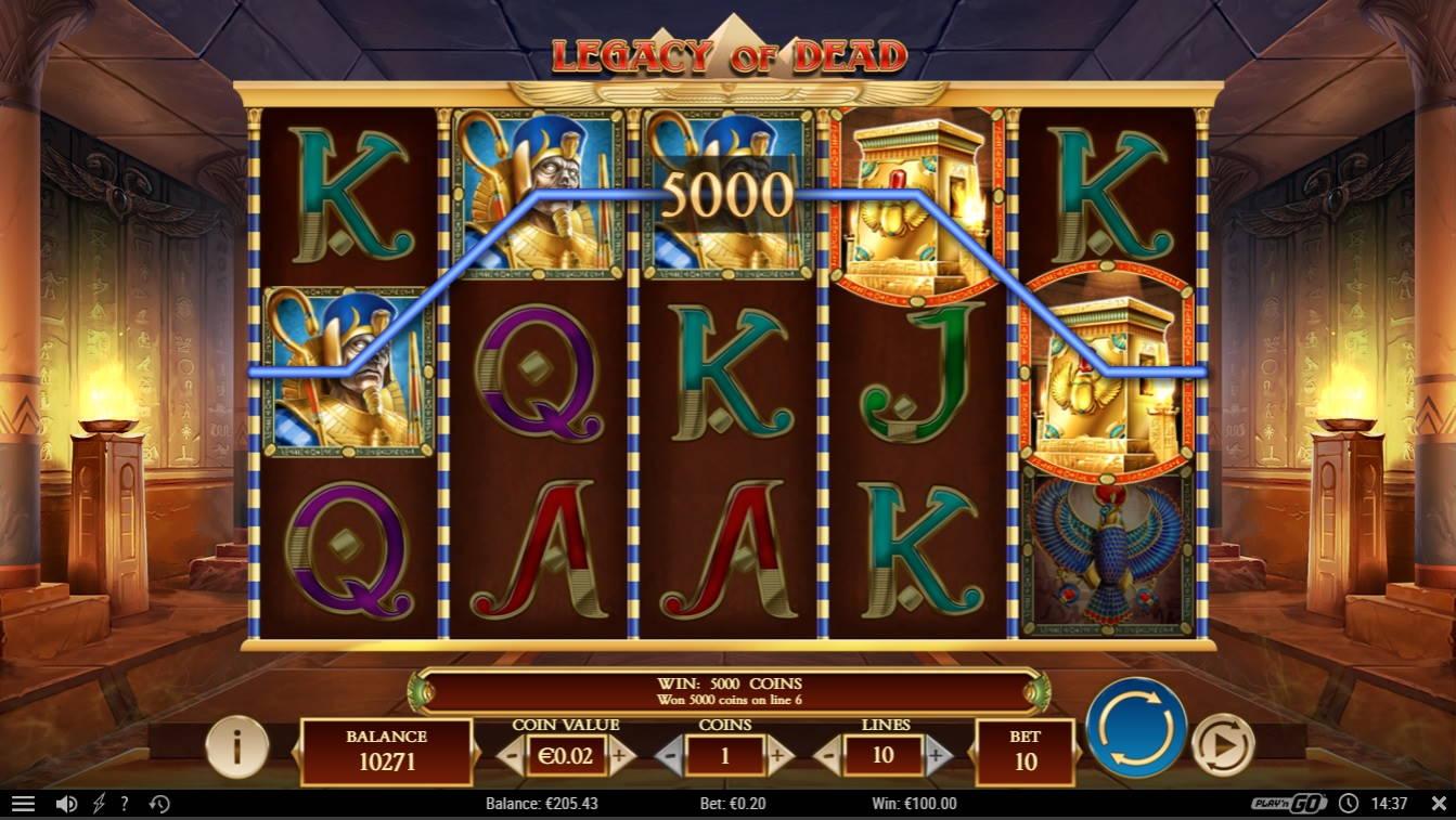 Legacy of Dead Casino win picture by fujilwyn 7.11.2020 100e 500X