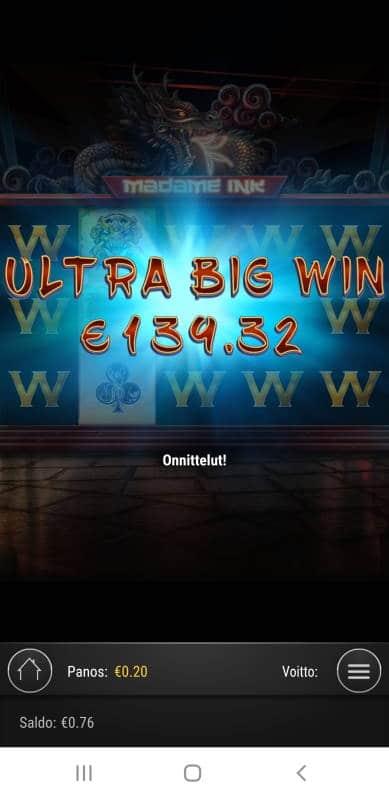 Madame Ink Casino win picture by MrMork 24.10.2020 139.32e 697X