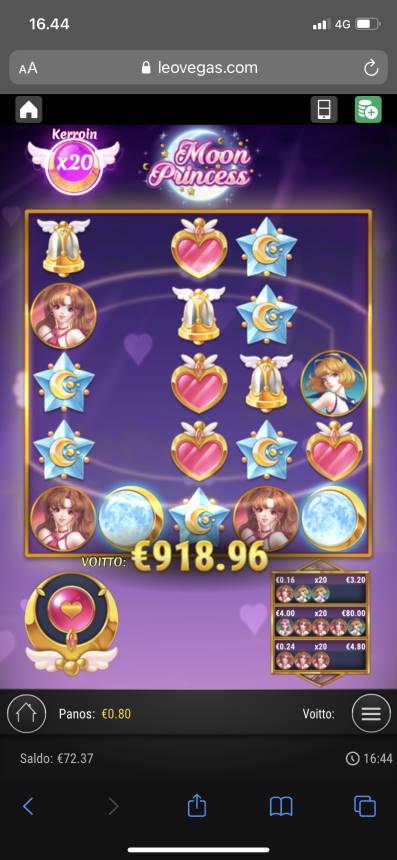 Moon Princess Casino win picture by vesselis 5.11.2020 918.96e 1148X Leovegas