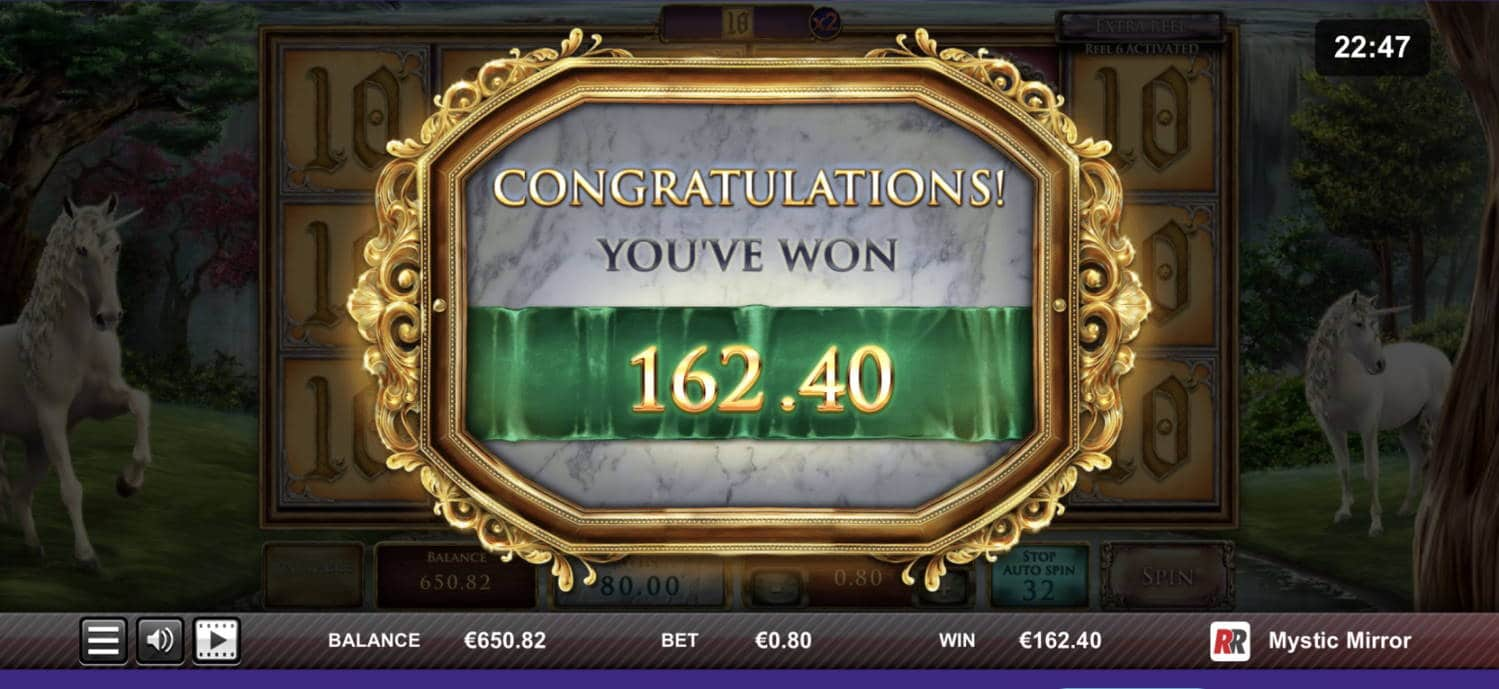 Mystic Mirror Casino win picture by livewithoutlimits1986 29.10.2020 162.40e 203X
