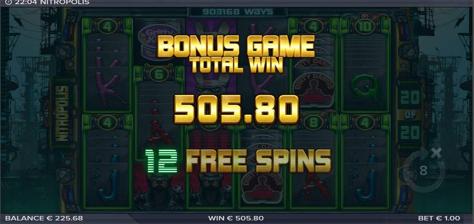 Nitropolis Casino win picture by Morrimoykky 8.11.2020 505.80e 506X