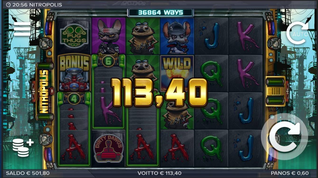 Nitropolis Casino win picture by MrMork666 16.11.2020 113.40e 189X