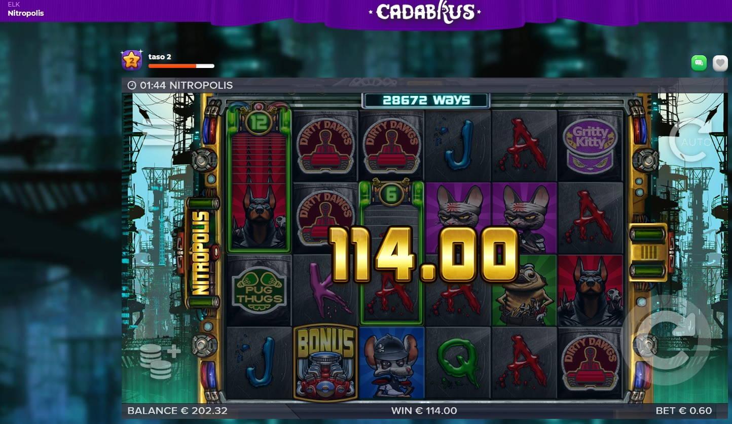 Nitropolis Casino win picture by MrMork666 16.11.2020 114e 190x Cadabrus