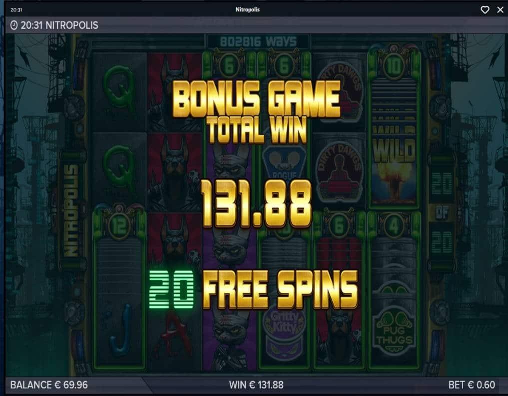 Nitropolis Casino win picture by MrMork666 16.11.2020 131.88e 220X