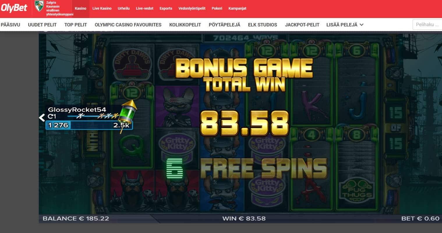 Nitropolis Casino win picture by MrMork666 16.11.2020 83.58e 139X Olybet