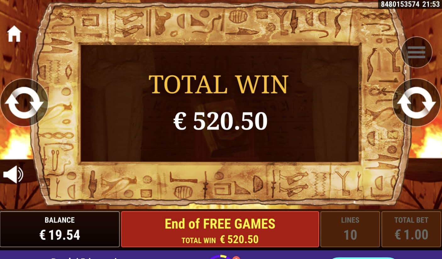 Ramses Book Casino win picture by livewithoutlimits1986 29.10.2020 520.50e 521X Wildz