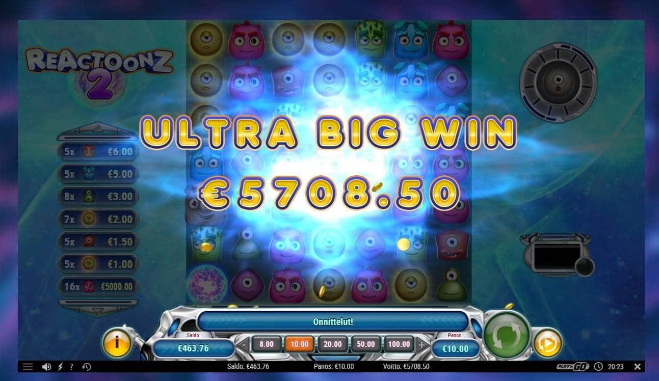 Reactoonz 2 Casino win picture by kalmakoura666 5.11.2020 5708.50e 571X