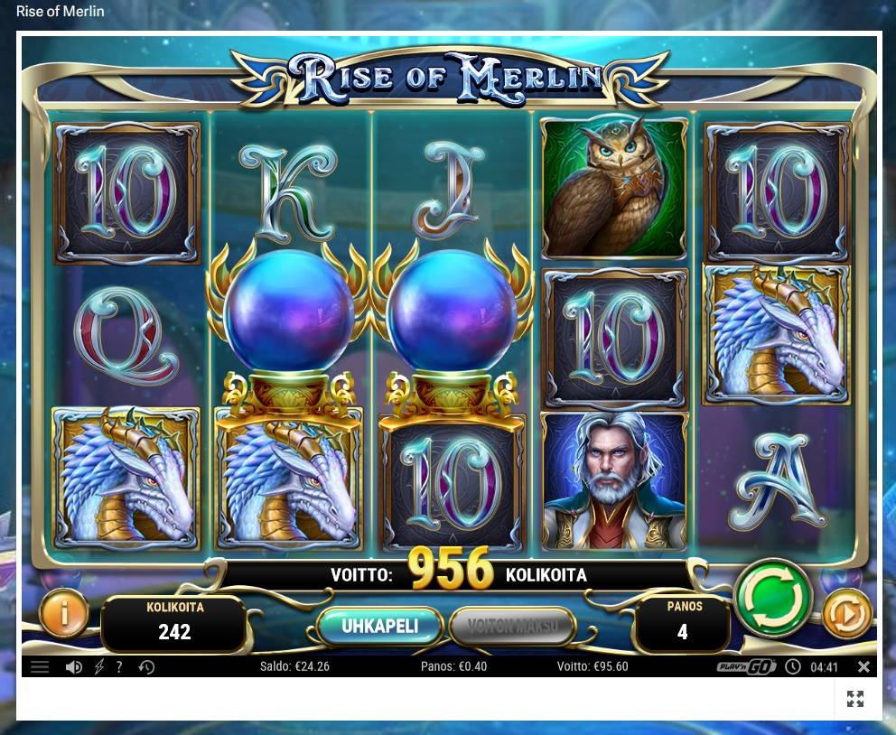 Rise Of Merlin Casino win picture by MrMork666 16.11.2020 95.60e 239X