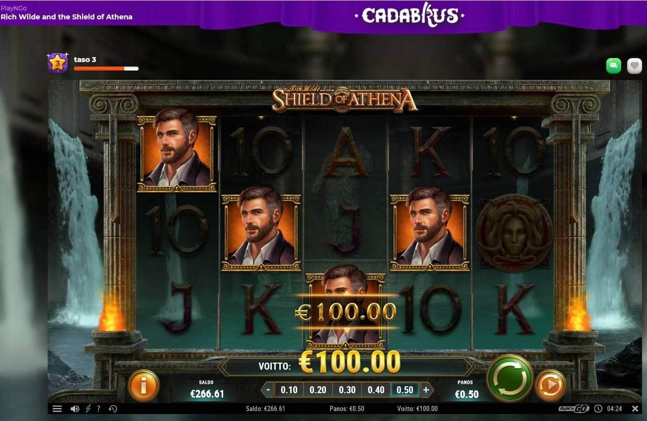 Shield of Athena Casino win picture by MrMork666 16.11.2020 100e 200x Cadabrus