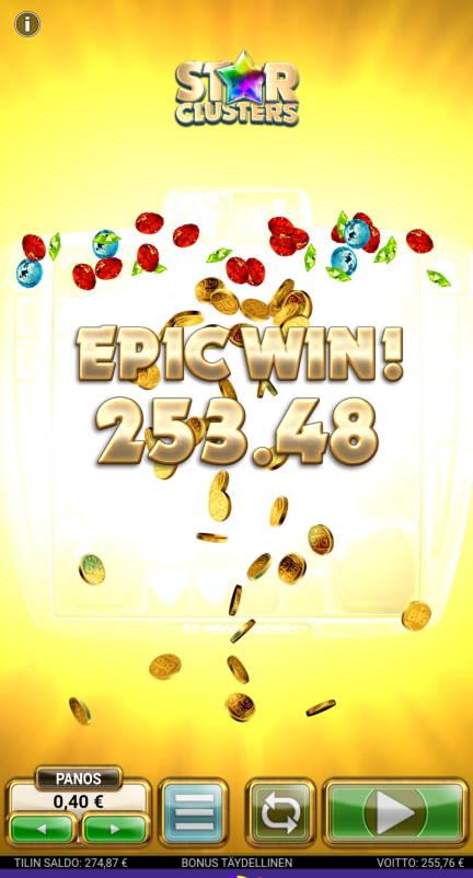 Star Clusters Casino win picture by Salatheel 13.10.2020 255.76e 639X Wildz