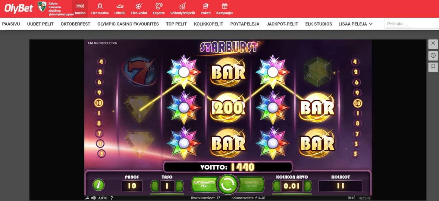 Starburst Casino win picture by MrMork666 28.10.2020 14.40e 144x Olybet