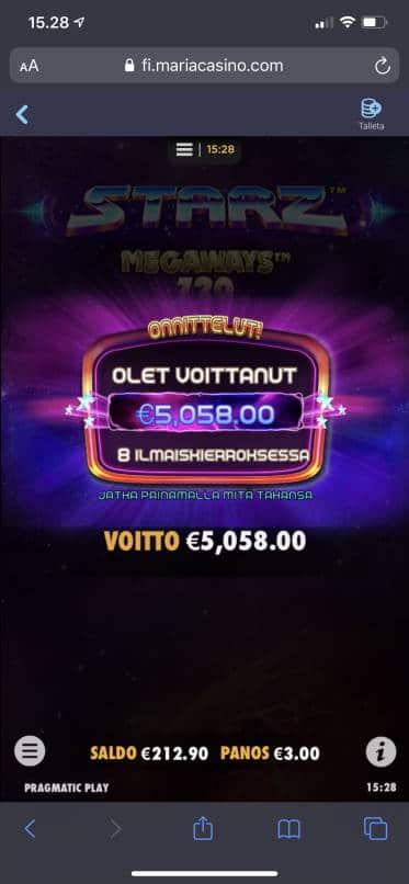 Starz Megaways Casino win picture by aki_2772 30.10.2020 5058e 1686X Maria Casino
