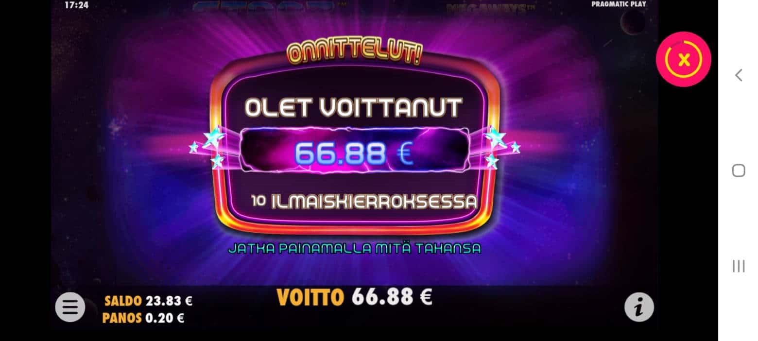 Starz Megaways Casino win picture by dj_niemi 27.10.2020 66.68e 334X Caxino