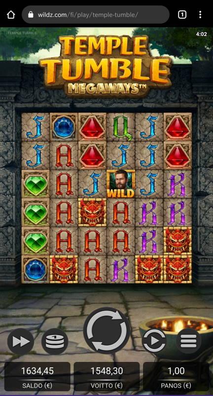 Temple Tumble Megaways Casino win picture by Salatheel 23.10.2020 1548.30e 1548X Wildz