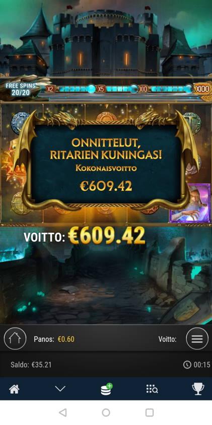 The Sword and the Grail Casino win picture by blazeri85 8.11.2020 609.42e 1016X