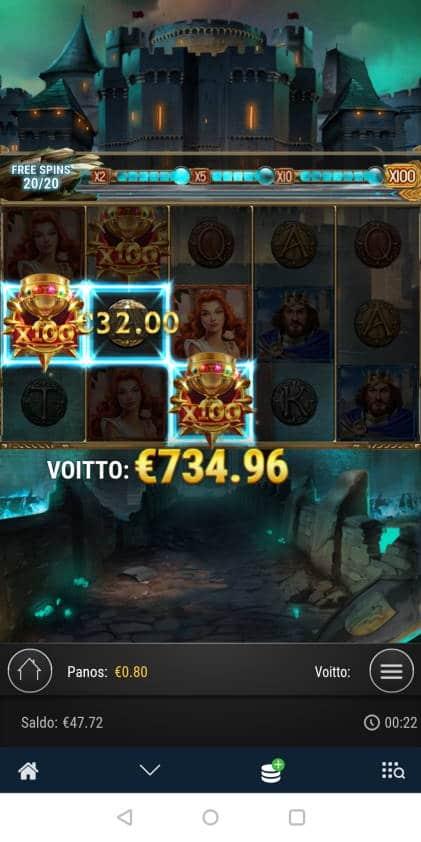 The Swords and the Grail Casino win picture by blazeri85 9.10.2020 734.96e 919X