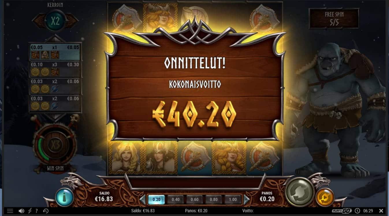 Troll Hunters 2 Casino win picture by MrMork666 16.11.2020 40.20e 201X