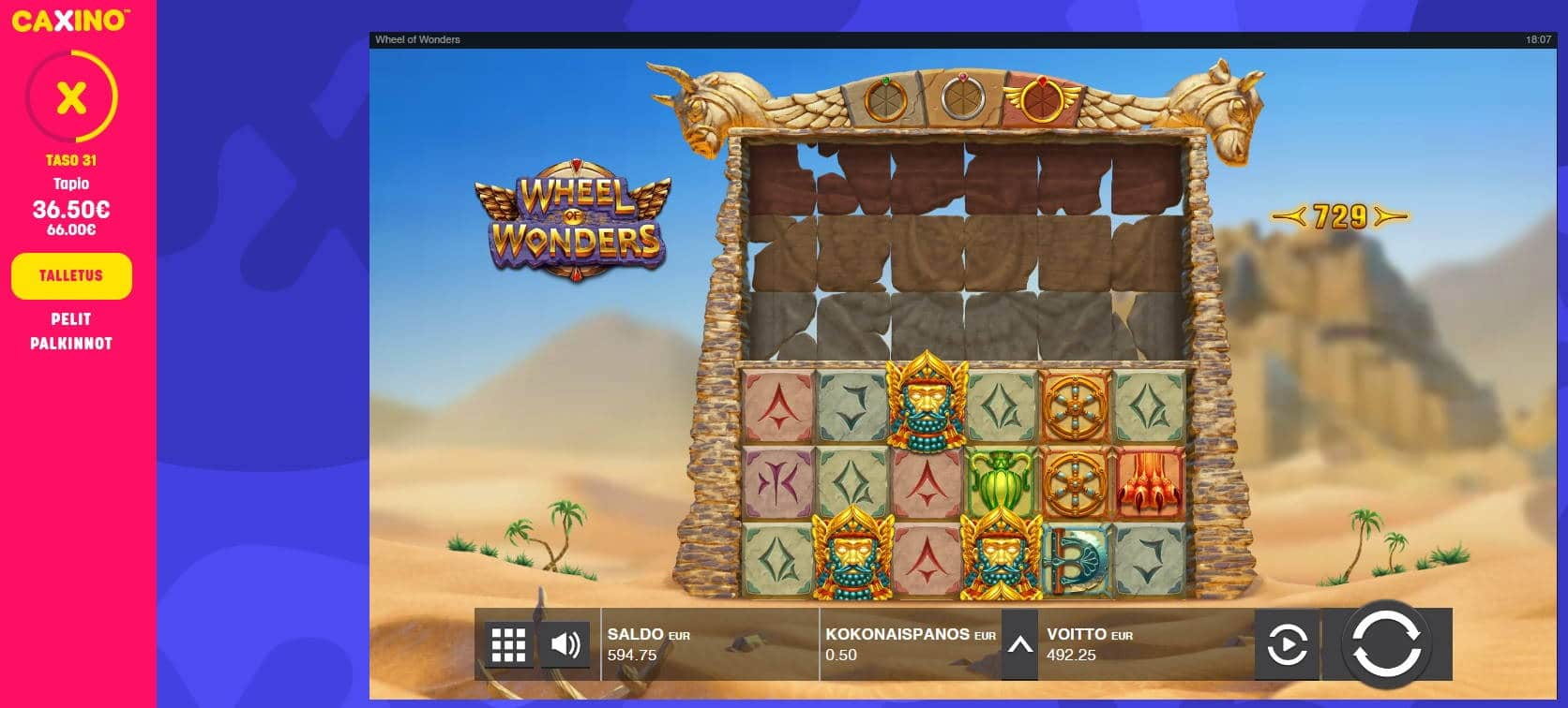Wheel of Wonders Casino win picture by Mrmork666 12.11.2020 492.25e 985x Caxino
