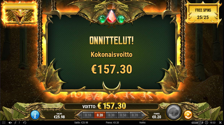 24k Dragon Casino win picture by Kari Grandi 27.11.2020 157.30e 787X