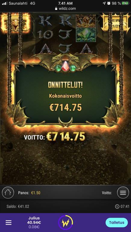 24k Dragon Casino win picture by WestBliki 10.12.2020 714.75e 477X Wildz