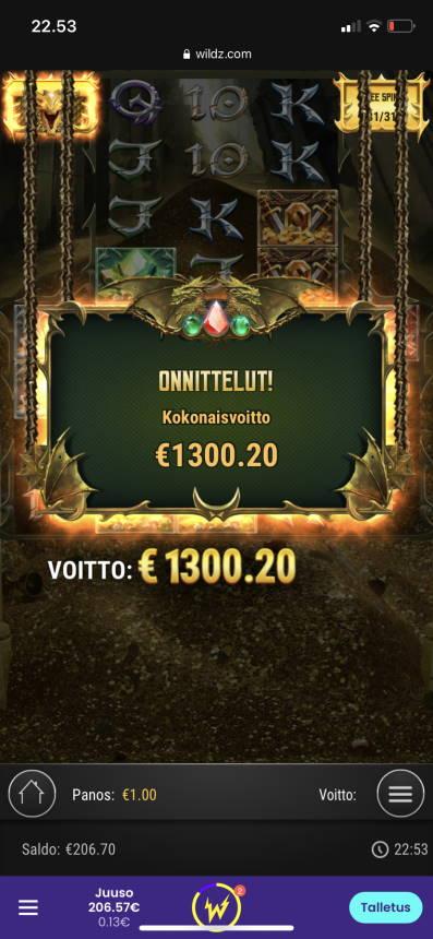 24k Dragon Casino win picture by vesselis 20.11.2020 1300.20e 1300X Wildz