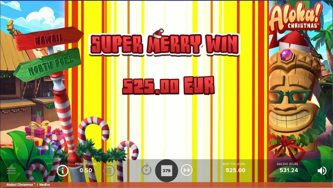 Aloha Christmas Casino win picture by Kari Grandi 14.12.2020 525e 1050X
