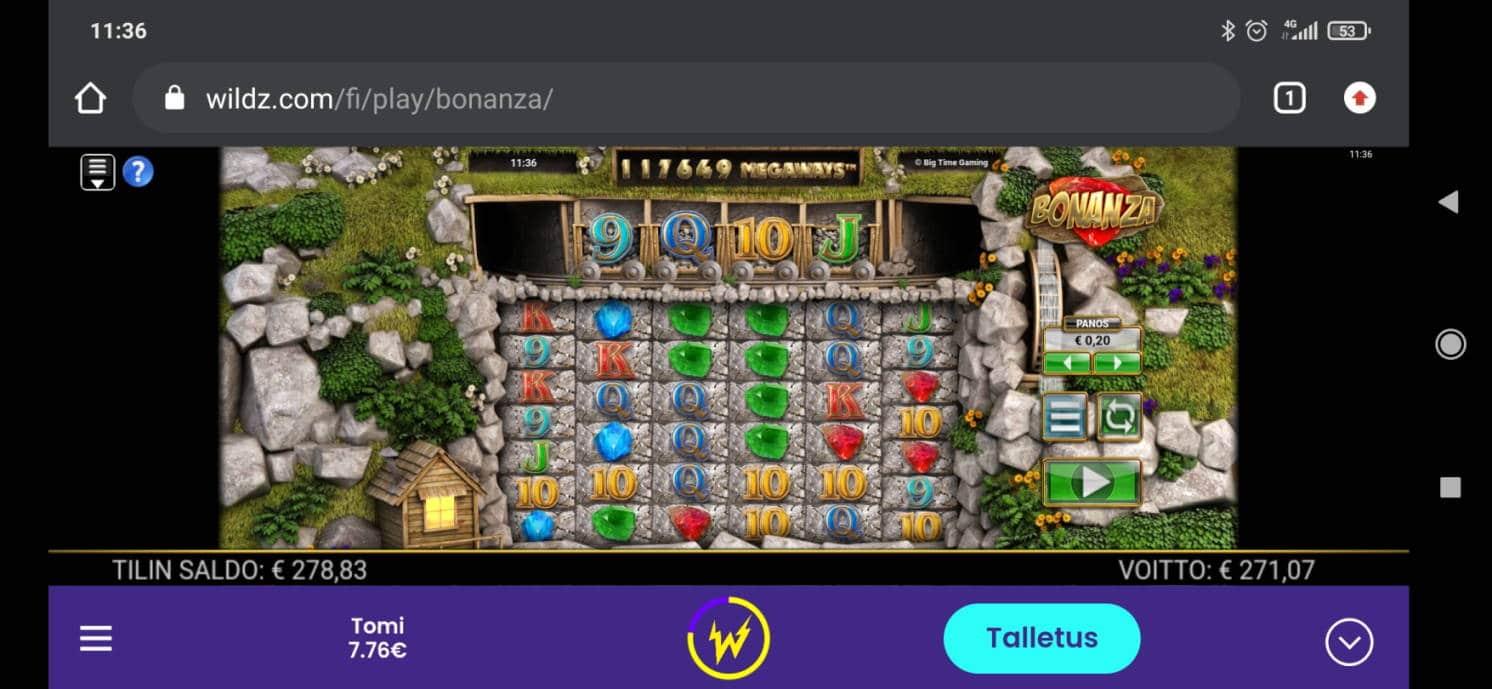 Bonanza Casino win picture by Turboburo 10.12.2020 271.07e 1355X Wildz
