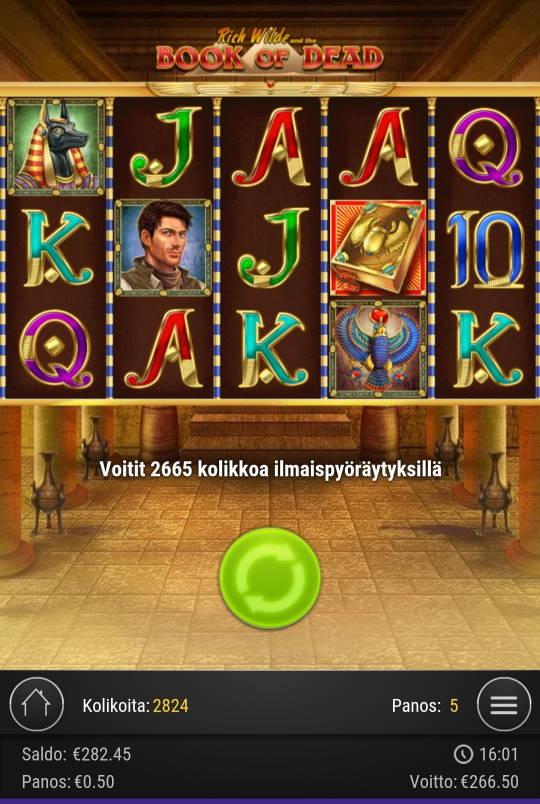 Book of Dead Casino win picture by Rektumi 11.12.2020 266.50e 533X
