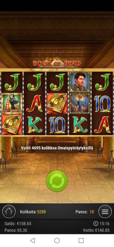 Book of Dead Casino win picture by jyrkkenkloppi 13.12.2020 140.85e 470X