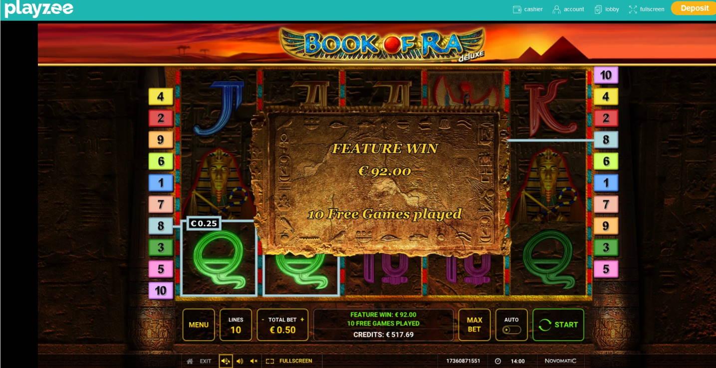 Book of Ra Deluxe Casino win picture by Mrmork666 4.12.2020 92e 184X