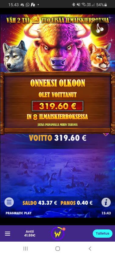 Buffalo King Casino win picture by dj_niemi 11.12.2020 319.60e 799X Wildz