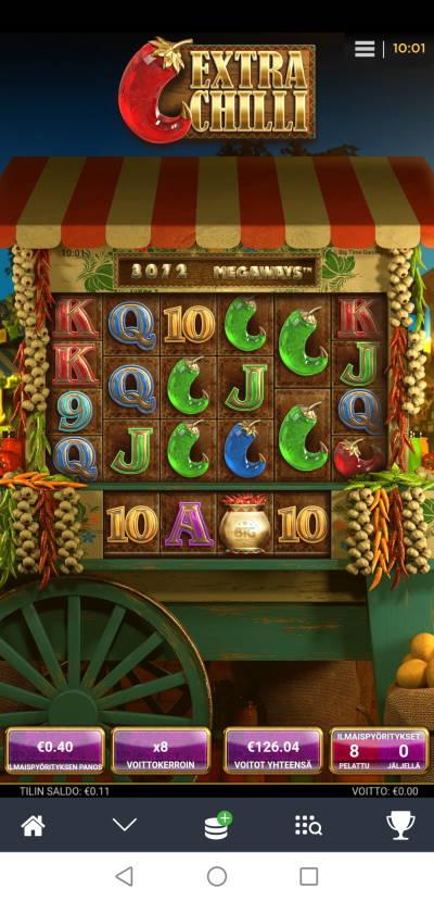 Extra Chilli Casino win picture by Hookos 4.12.2020 126.04e 315X