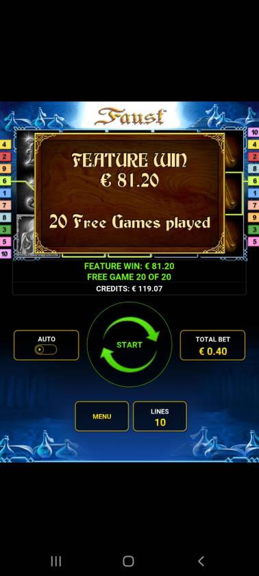 Faust Casino win picture by dj_niemi 8.12.2020 81.20e 203X