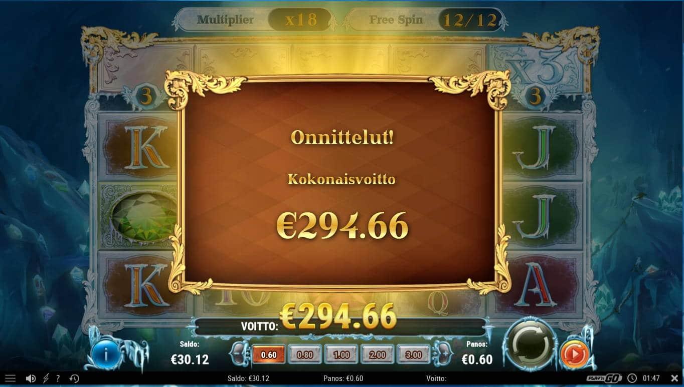 Frozen Gems Casino win picture by Kari Grandi 14.12.2020 294.66e 491X