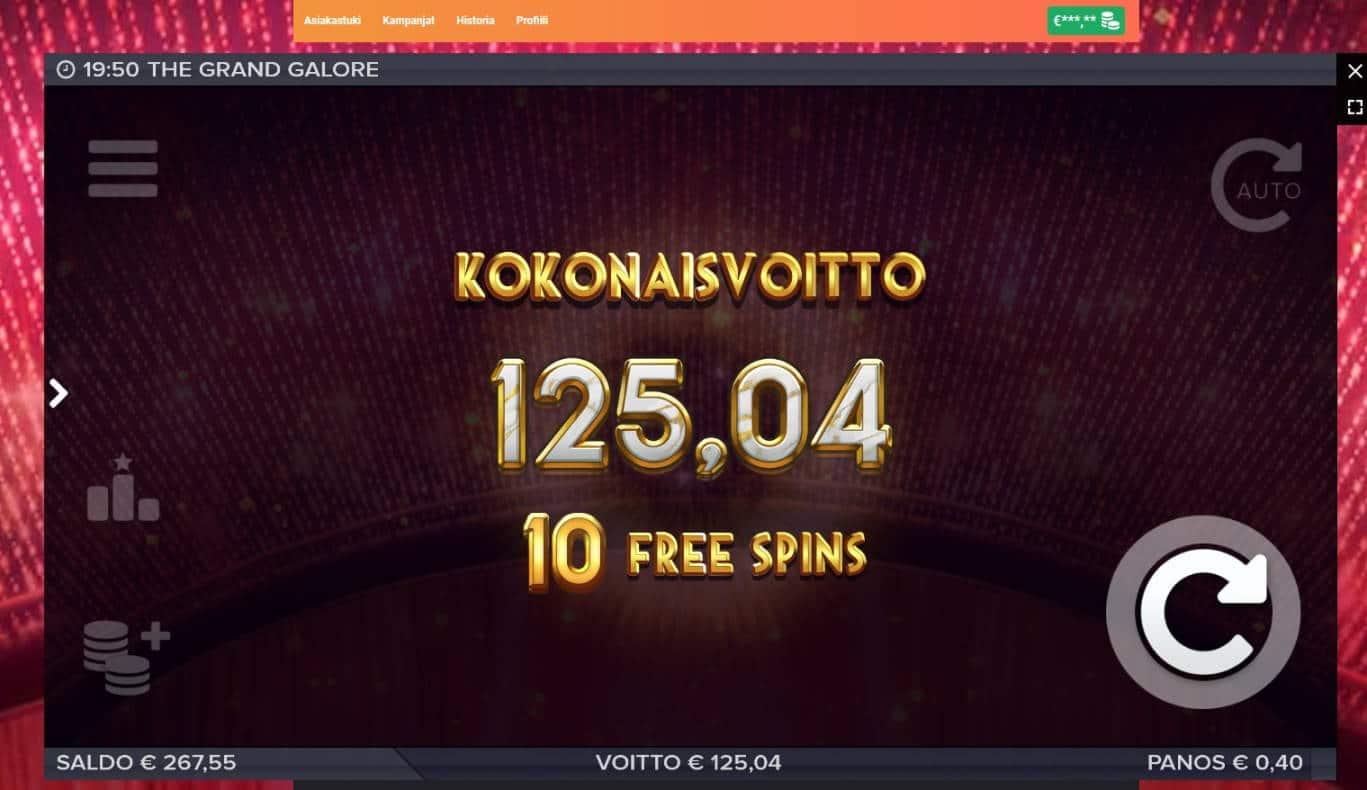 Grand Galore Casino win picture by MrMork666 26.11.2020 125.04e 312x