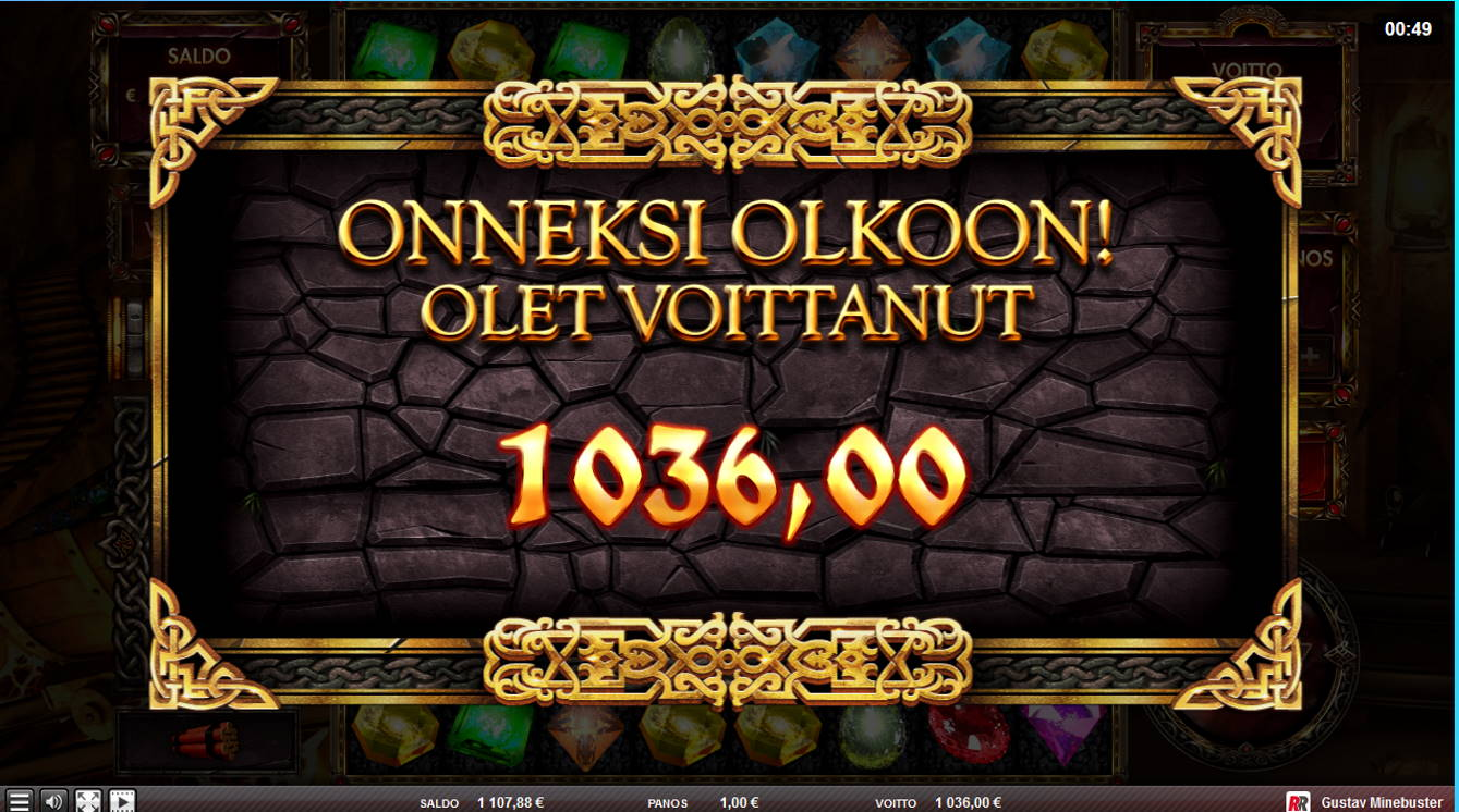 Gustav Minebuster Casino win picture by Kari Grandi 25.11.2020 1036e 1036X