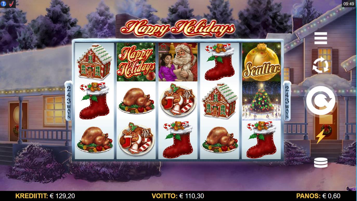 Happy Holidays Casino win picture by Kari Grandi 28.11.2020 110.30e 184X