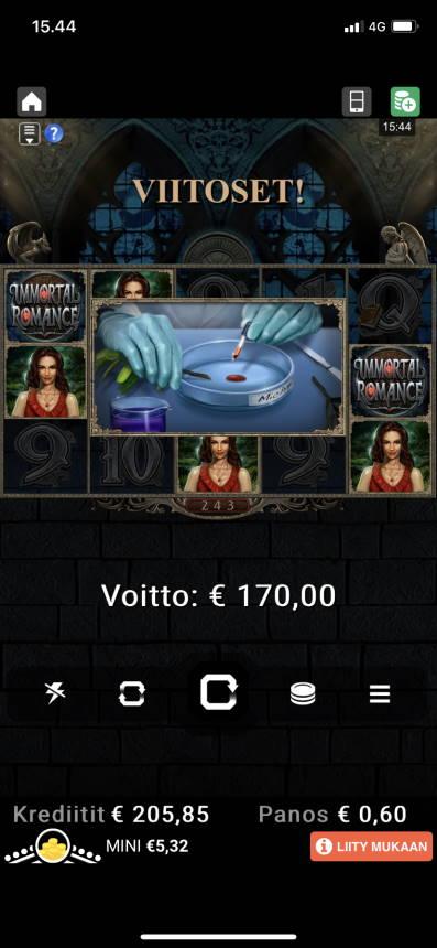 Immortal Romance Casino win picture by Moonhoaxx 11.12.2020 170e 283X