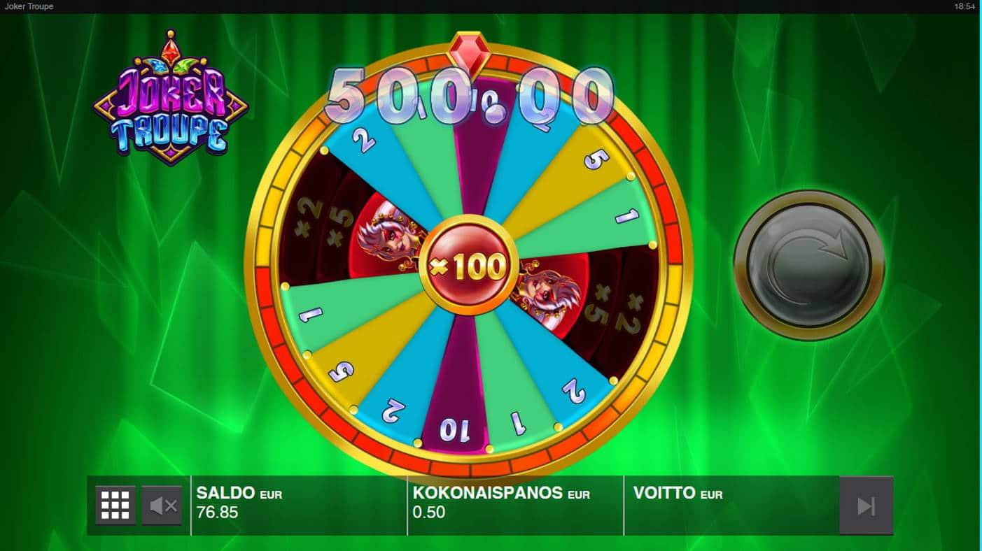 Joker Troupe Casino win picture by Kari Grandi 1.12.2020 500e 1000X