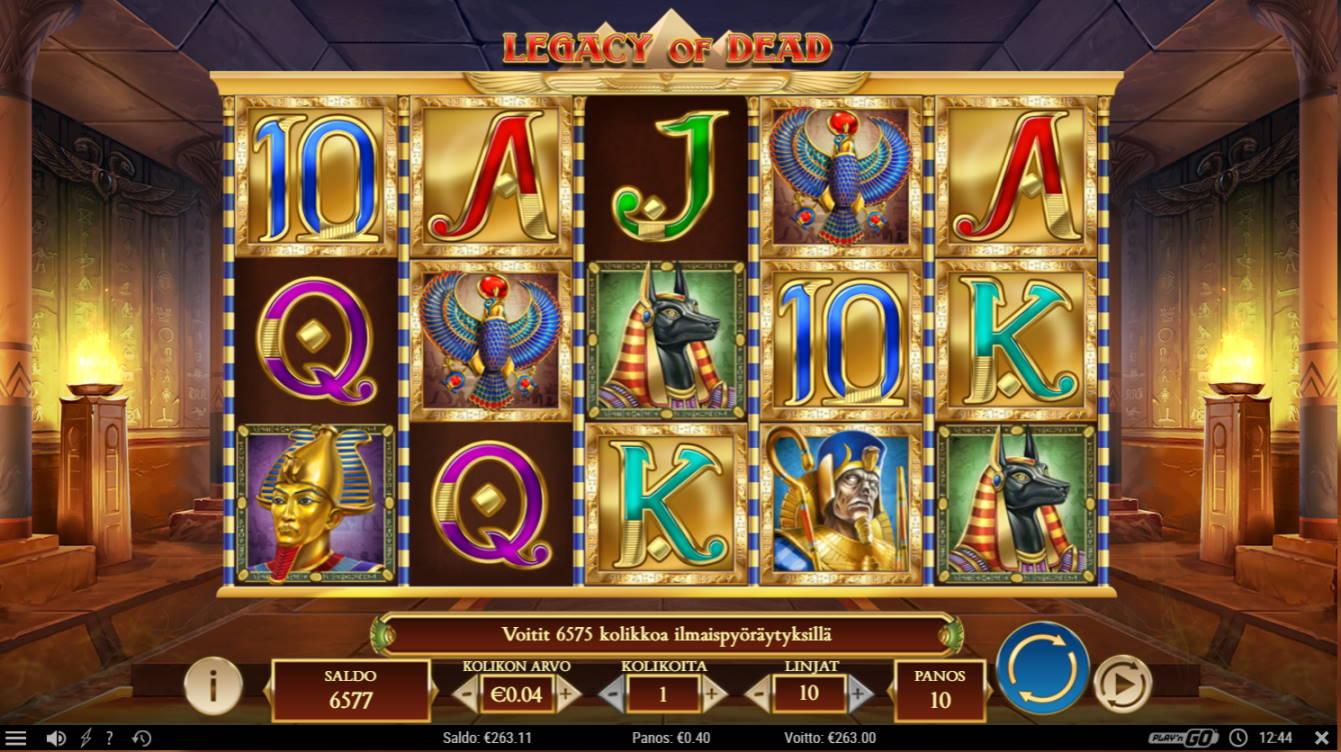 Legacy of Dead Casino win picture by jaxy1k 5.12.2020 263e 658X