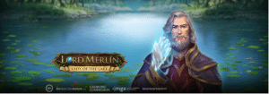 Lord Merlin and the Lady of the Lake slot logo