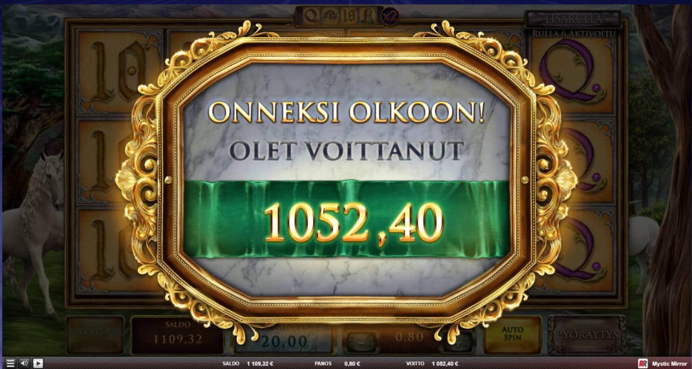 Mystic Mirror Casino win picture by jaxy1k 5.12.2020 1052.40e 1316X